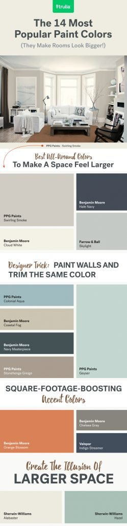 Most Popular Paint Colors to Make A Room Feel Bigger